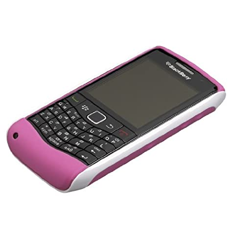 BlackBerry Pearl 9105 3G 2 Piece Hard Shell Case - White with Pink Skin