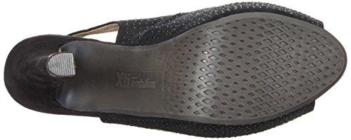 XTI Black Microfiber Ladies Shoes, Scarpe spuntate Donna nero (nero)