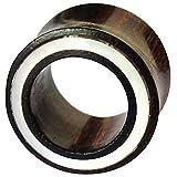 Chic-Net Damen Herren Lobe Piercing Flesh Tunnel Plug aus Holz mit Perlmutt Rim Inlay in weiß, dunkelbraun und double flared