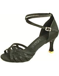 shangyi adaptable–métrica gefertigter tacón–Satén–Latin/estándar de danza–Zapatillas de mujer morado morado Talla:us8 / eu39 / uk6 / cn39