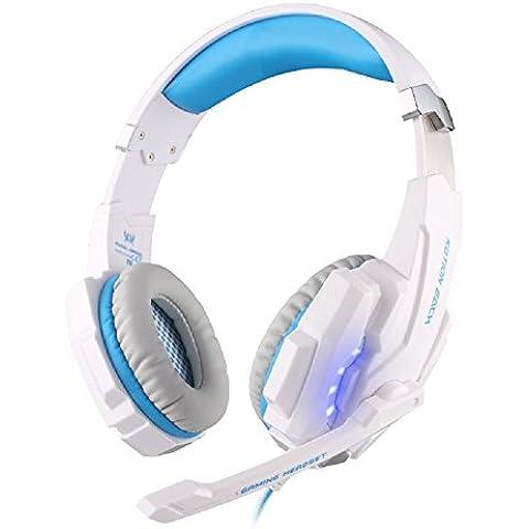 Seesii 2016 Último Auriculares de Juego KOTION EACH G9000 USB 7.1 Auriculares de Sonido Estéreo con Micrófono de Juego Auriculares con Cable Auriculares de Juego con Luz LED para Ordenador (Azul y