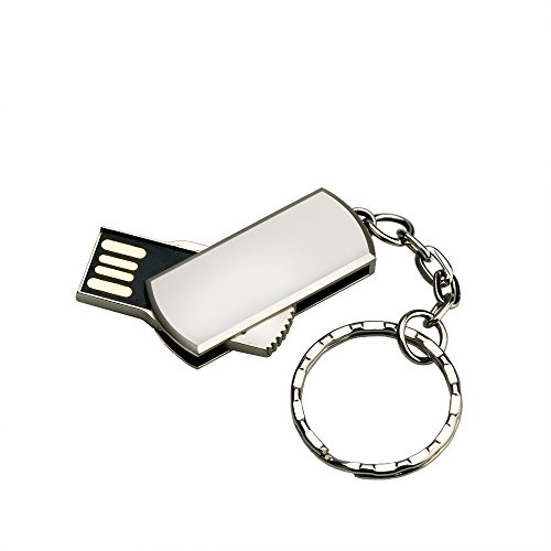 USB Stick 32gb USB-Stick USB 2.0 Wasserdicht Memory Stick Flasch Drive Aluminium Speicherstick für PC Laptop Tablet (Mit Schlüsselanhänger)