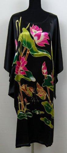 Canard Mandarin & Lotus Kimono Robe de Chambre Peignoir