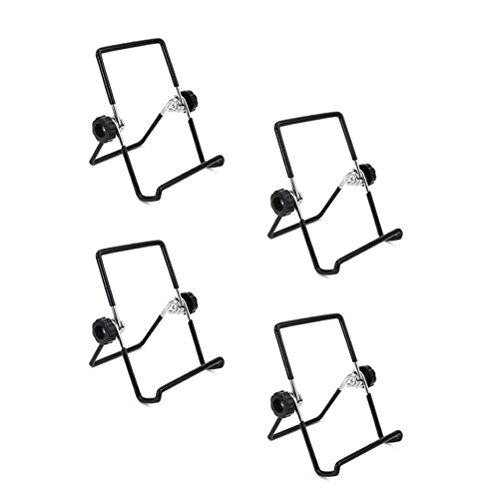 BESTONZON 4Mason Jar Samen Etablieren Deckel steht Edelstahl Etablieren Jar Ständer Handy iPad Tablet Ständer–S (schwarz)