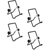 BESTONZON - 4 Soportes de Tapa para Tarro de Mason Sprouting de Acero Inoxidable, Soporte para Tarro para teléfono iPad Tablet – S (Negro)
