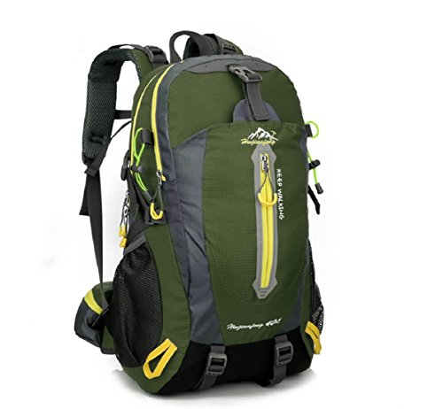 Aeoss Outdoor Travel school college Backpack Bag Unisex Climbing Backpack  Waterproof Mountaineering Nylon Camping Hiking Backpacks 40L (Green) c11634cb02d34