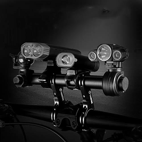BESTT Fahrrad Halterung Aus Aluminium Mehr Space für Handy Fahrradlicht Tacho GPS-Geräte Sport Kamera, Schwarz 25CM