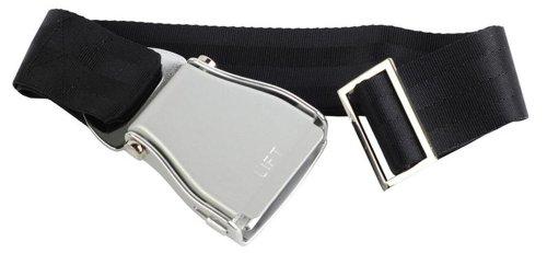 skybelt-flugzeuggurtel-argent-noir-airline-seatbelt-flying-ceinture