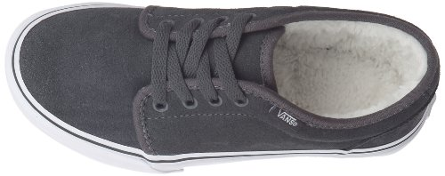 Vans 106 Vulcanized VKV365D Unisex - Kinder Sneaker Grau ((Fleece Lining) dark shadow/true white)