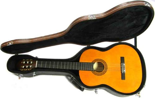 Tone Deaf Music Hard Guitar Case for Classical and Spanish Acoustic Guitars. Wooden Shell.