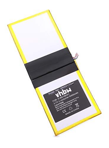 vhbw Batterie 6400mAh (3.7V) pour Tablette Huawei MediaPad 10 Link, S10-201W, S10-201WA remplace HB3X1.