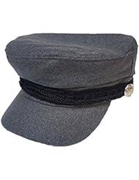 Gorra de moda Baker Boy estilo capitán gris pequeño/mediano ...