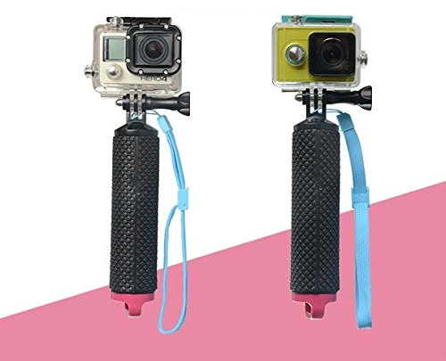 Theoutlettablet® Monopod Palo Selfie Stick sumergible para camara deportiva sport cam DV SJCAM SJ4000 SJ5000 Xiaomi - gopro - Sport Cam - Excelvan - Elephone - Topjoy - Qumox - Topop - VicTsing - Pictek - Dbpower - Q5 - EX5000 etc etc.. Tapón color ROSA