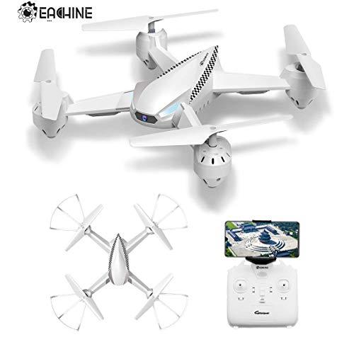 EACHINE-Drone-avec-camra-et-cran-E32HW-rsistance–Vent-Grand-Quadcopter-avec-Camera-Solide-Drone-pour-dbutant-Haut-de-Gamme-Blanc