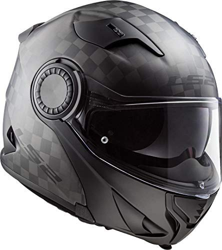 LS2 CASCO MOTO FF313 VORTEX MATT CARBON, NERO, XL