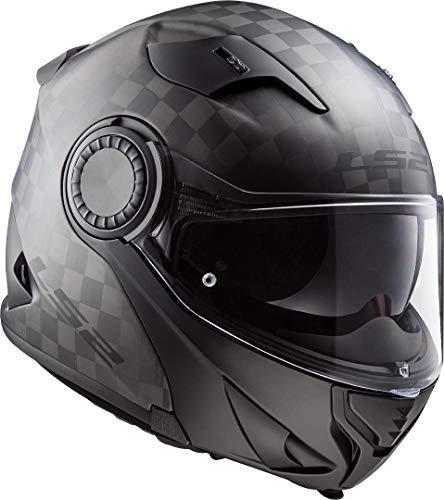 LS2 Casco Moto FF313 VORTEX Matt Carbon, Nero, M