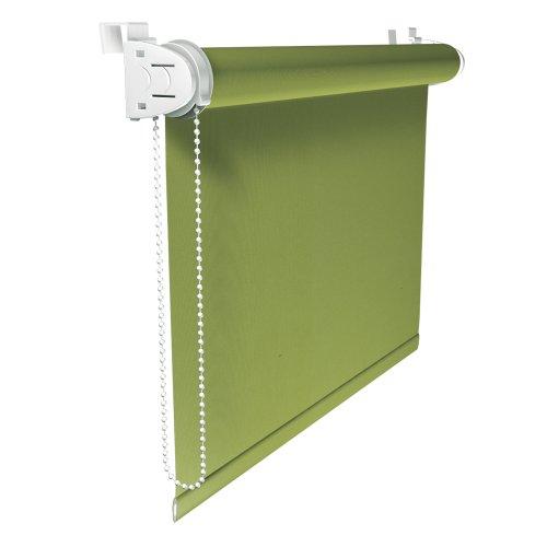 VICTORIA M Klemmfix Rollo ohne Bohren, Verdunkelung, 90 x 150 cm, grün