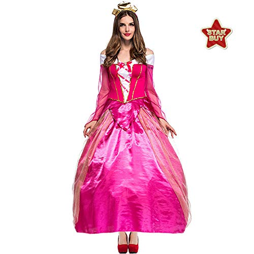 COSOER Super Mario Prinzessin Peach Kostüm Stage Party Queen Kleid Halloween Csoplay - Mario Und Prinzessin Peach Kostüm