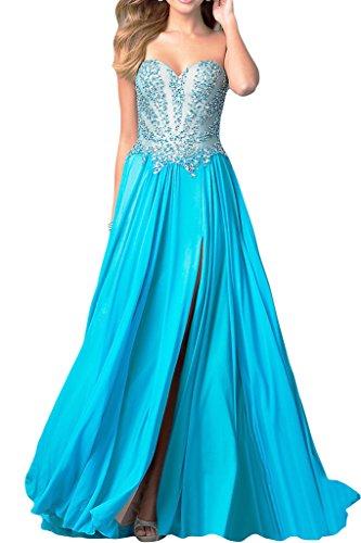 ivyd ressing Elegant Femme–Coeur A ligne pierres Party robe de la découpe Lave-vaisselle robe robe du soir Bleu - Bleu