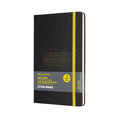 Moleskine Wochen Notizkalender, Taschenkalender, Star Wars, 18 Monate, 2017/2018, Large, A5, Hard Cover, Schwarz
