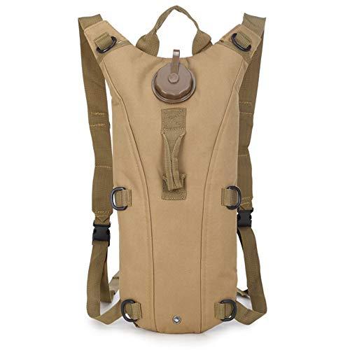 Desert Camo Stoff (huangliqing2019 3L Wasser Tasche Militärische Taktische Trinkrucksack Outdoor Camping Rucksack Coyote Tan)