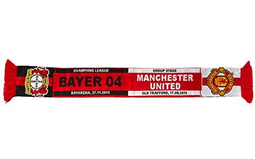 Bayer 04Leverkusen––Bufanda–Encuentro–Manchester United