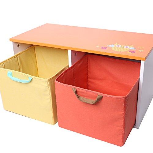 Labebe - Porta Giochi di Legno per Bambino (arancione)
