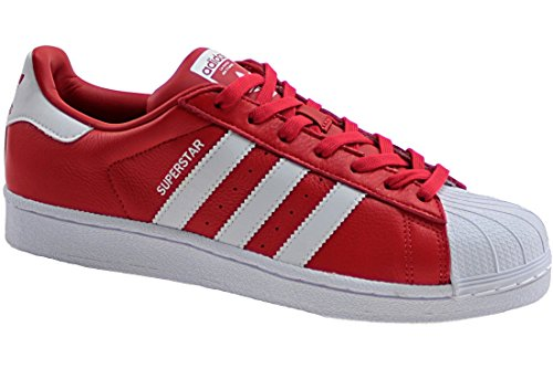 adidas Originals Superstar Weave, Sneakers basses mixte adulte Rosso/bianco