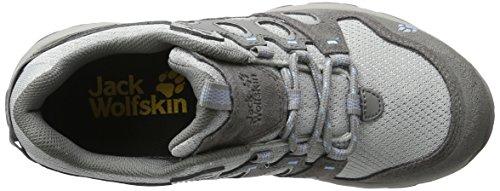 Jack Wolfskin Mtn Attack 5 Low W, Chaussures de Randonnée Basses Femme Gris (Cool Water)