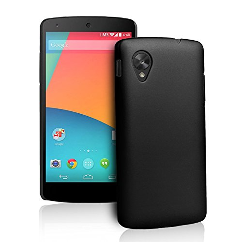 WOW Imagine(TM) Rubberised Matte Hard Case Back Cover For GOOGLE LG NEXUS 5 (Black)