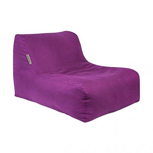 Pushbag Sitzsack Chair aus Soft (Polyester), 90x120x35cm, 450l, purple