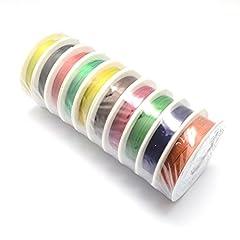 Idea Regalo - 10rotoli filo 0,3mm 20m Mix colorato fai da te, colore platino
