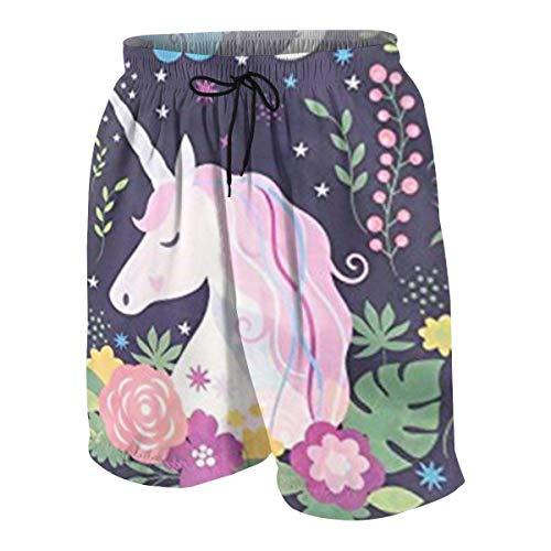 Pink Unicorn Unique Design Drawstring Bags Sackpack Backpack School Bag Boys Beach Shorts Quick Dry Beach Swim Trunks Kids Swimsuit Beach Shorts,Boys' Pull-on Cargo Shorts L -