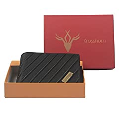 Krosshorn Leather Black Casual Regular Wallet (KW111076)