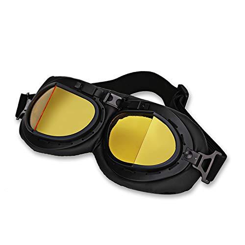 XZANTE Retro Amarillo Moto Casco Piloto