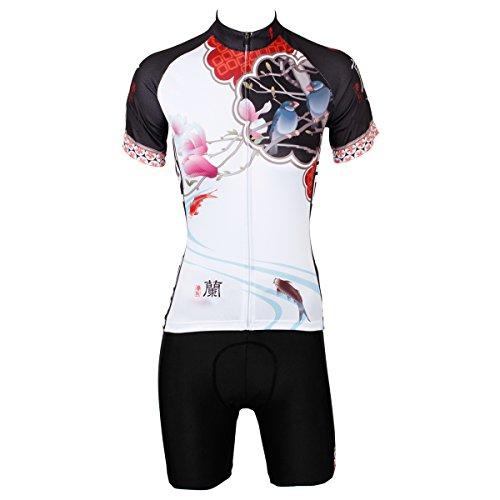 ilpala-dino-da-donna-stampa-a-maniche-corte-maglia-bike-jersey-outdoor-ciclismo-traspirante-shorts-5