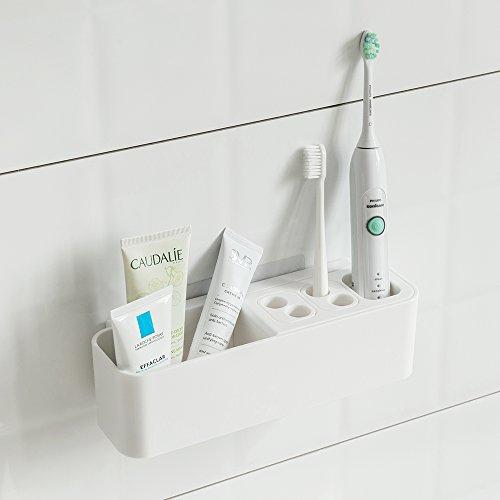 Kit d'organiseur d'accessoires de salle de bain à aspiration - Pour brosse à dents