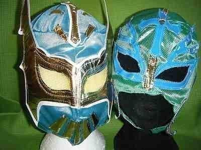 blau sin cara und grün rey mysterio wwe wrestling masken kostüm verkleiden outfit ray anzug-serie new mexico kinder jungen kinder cosplay rollenspiel schule wwf ray serien brand neu (Sin Cara Kostüm Blau)