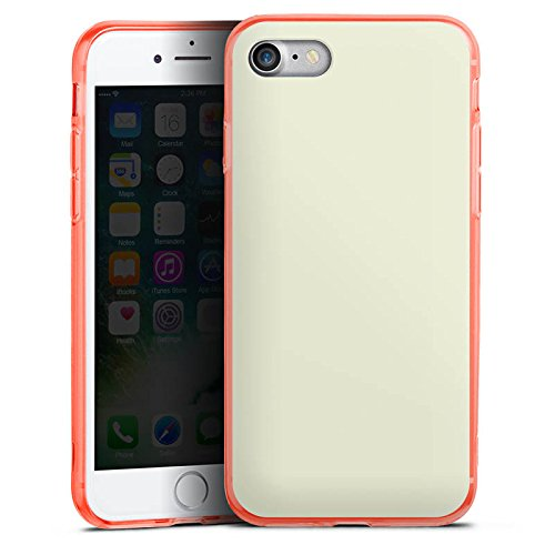 Apple iPhone 8 Silikon Hülle Case Schutzhülle Pastellgrün Grün Green Silikon Colour Case neon-orange