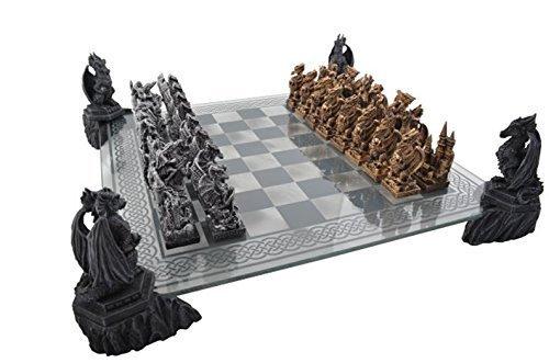Fantasy Schach (Drachenschach mit Glasbrett)