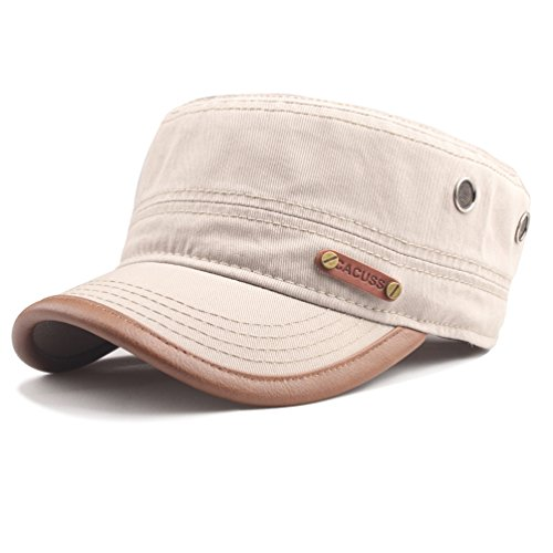 CACUSS Baumwolle Military Army Cap Adjustable Snapback Baseballcap für Herren (Cap Band Army)