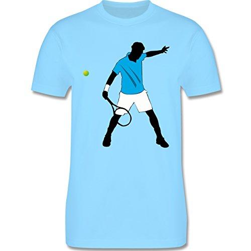 Tennis - Tennis Spieler Squash - Herren Premium T-Shirt Hellblau