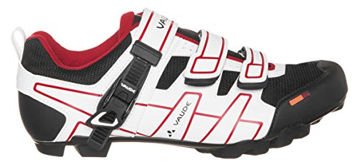 Vaude Exire Advanced Rc, Chaussures de Vélo de route Mixte adulte Blanc (White/red)