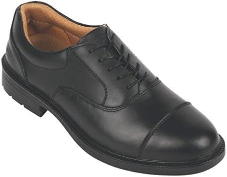 Ciudad caballeros Oxford Executive zapatos de seguridad negro tamaño 9