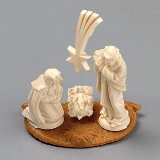efco–Figuras de belén en Miniatura, Marfil, 20mm, Juego de 5