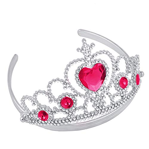 lenspiel Party Spielzeug, Mamum Girl Queen Princess Crown Kristall Tiara Halloween Cosplay Urlaub Party Geschenke Einheitsgröße hot pink ()
