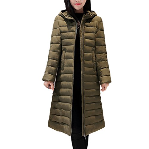 Zhhlaixing Mode Mantel Cotton Long Coat Europe and The United States Style Lightweight Down Jacket Keep Warm for Winter