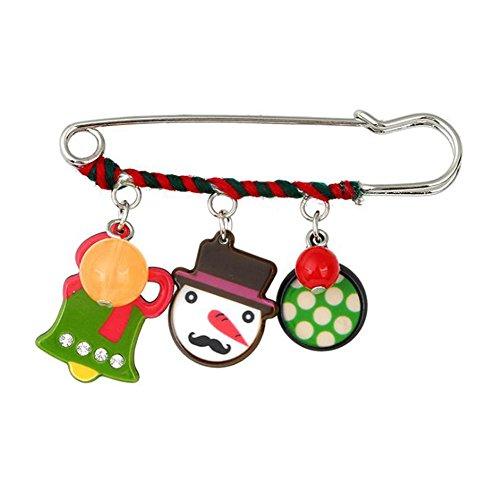 Niedlichen Frauen Weihnachtsmann Kostüm - LAAT Weihnachtsmann Broschen Weihnachtsstifte Cartoon Weihnachtsstrümpfe Schmuck Geschenk für Familien Freund Frauen Männer Erwachsener Kind
