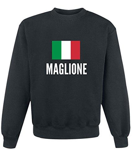 Felpa Maglione city Black