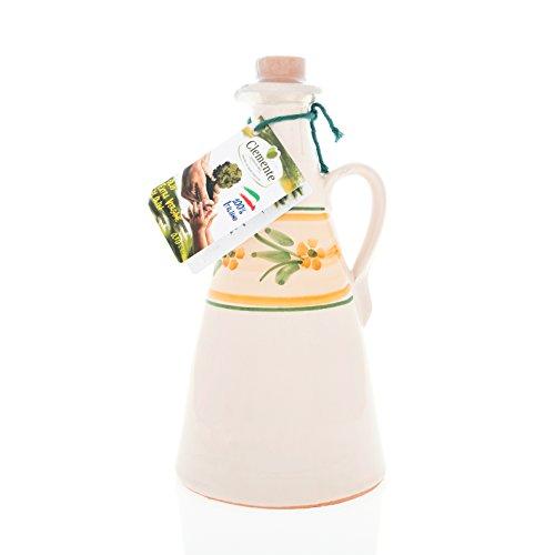 g aus Keramik an Nativem Olivenöl Extra, 100% Italienisch, Le Zagare, Gelber Kegel, 500ml ()